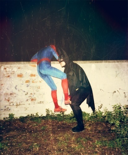 Go back to your respective universes, Spidey and Bats. You're drunk.