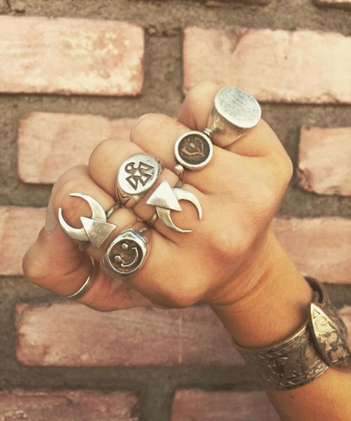 the2bandits banditbabe crescent midnight crescent crescent moon ring moon crescent moon silver rings stacking rings ring game statement jewelry statement rings