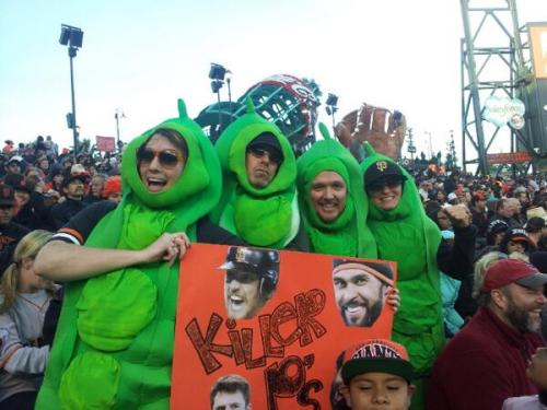 Pence, Pagan, Posey, Panda - Ladies & Gentlemen, introducing the #KillerPeas pic.twitter.com/Ma4gakDroh