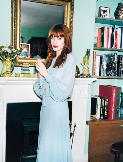 Florence Welch in her own house, photographed by Angelo Pennetta for Vogue, May 2013.
