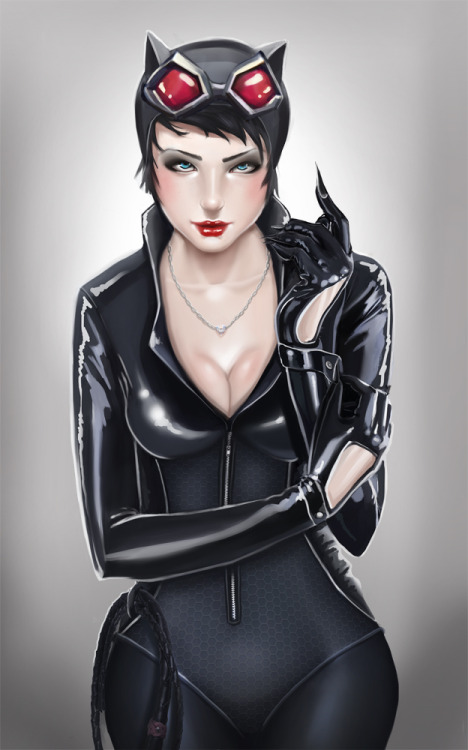 youngjusticer:  Late-night-latex. Catwoman, by  Lou Desoutter.