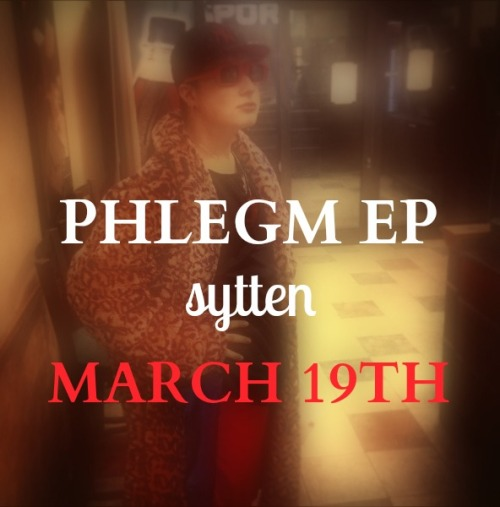 "MY NEW EP ""Phlegm"" COMES OUT IN 6 DAYS!!! MARCH 19TH! PLEASE REBLOG THIS PHOTO, GET THE WORD OUT! LET'S DO THIS! <3"