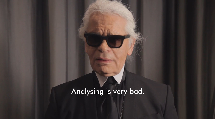 Great piece on NOWNESS about Karl Lagerfeld. Also, a pretty accurate representation of how fashion media happens.