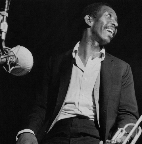 Kenny Dorham at his Una Mas session, Englewood Cliffs NJ, April 1 1963 (photo by Francis Wolff)