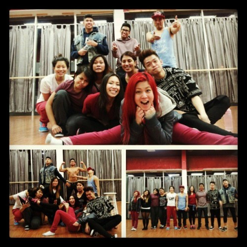 Pre-artist emerge rehearsal with #uvsoulfam :) i am ever so happy and proud of every single one of us for working so hard and giving it our all. First ae with these guys will never be forgotten, and i know it will only get better from here. I love you all :) #reminiscing #alllove #whataweekend #westsideforlife #kooday #ae2013
