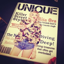 #Regram from @saramurfayy ..but finally our magazine is done and presented #overit #fashionstudentprobs  (at LIM College - 5th Avenue)