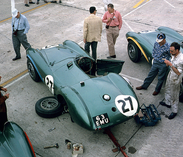 theycallmeaj:  Shelby's Aston Martin at Sebring 1956 by Nigel Smuckatelli on Flickr.