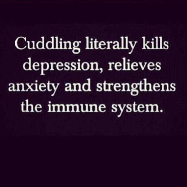 crystalalicia:  It's cuddle weather.. I need a hug. It's good for our health lol! #regram ;)