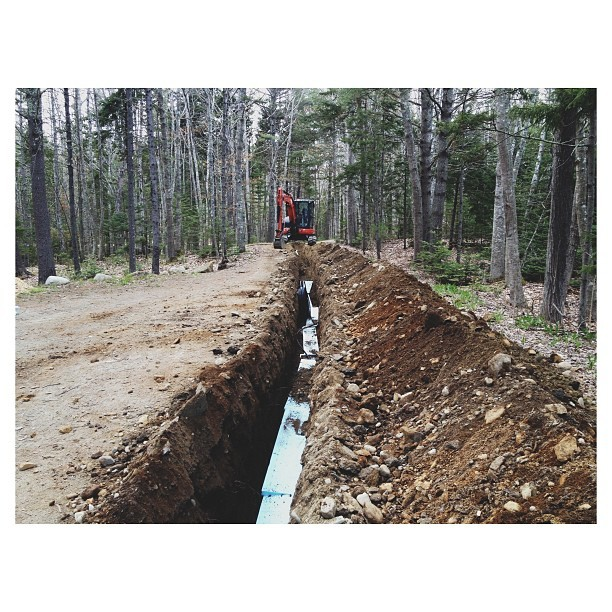 #excavation #watermain #maine #vsco #vscocam