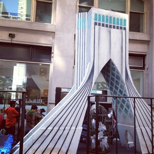 Azadi Tower on float #persianparade #iran #nyc