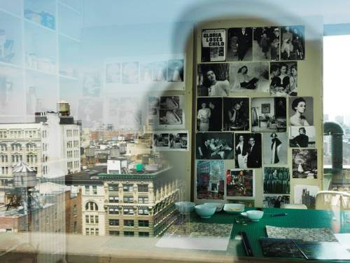 "whitneymuseum:  ""At first I spent weeks just staring out of the window. I pretty much thought it was the end of my art making."" —Artist T.J. Wilcox on his Union Square penthouse studio, which provides the inspiration for his upcoming project, In the Air, opening September 19. T.J. Wilcox's Studio, New York, 2012. Photograph © Marco Anelli; courtesy Danziger Gallery"