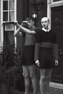boysbygirls:  Tommy (M+P Models) & Jasper (Elite Models) by Cecilie Harris for I Love Fake Magazine. Styling by Chad Burton. See more here.