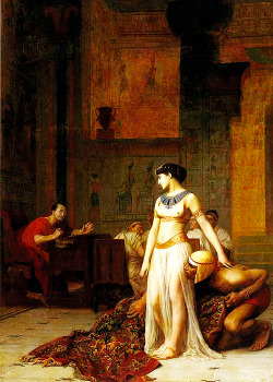 Cleopatra and Julius Caesar by Jean-Leon Gerome (1866)