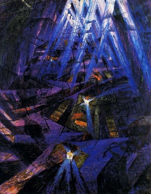 Umberto Boccioni- The Strengths of a Street (1911)