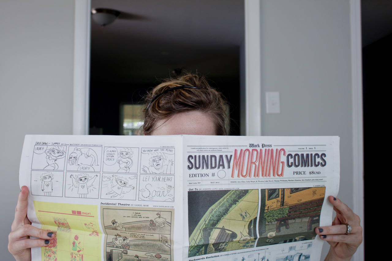 What are you doing with your time this morning? You could be reading Issue 1 of Sunday Morning Comics. Order now!