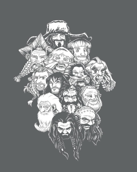 tshirtroundup:  ShirtPunch Design #2: Dwarvish Manga - by jerry bennett On sale for 24 hours only for $10 from ShirtPunch .