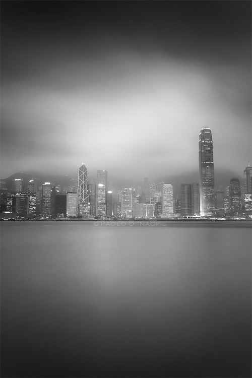 Hong Kong City Skyline in Black and White Photographed by: Paolo Nacpil