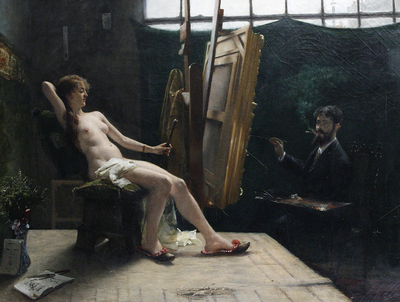 artistandmuse:  In the artist's studio French school, 19th century