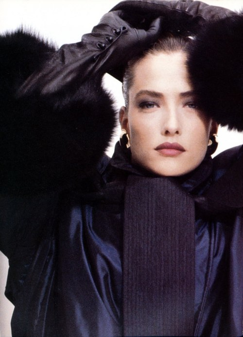 Tatjana Patitz for Gianfranco Ferre 1987, photo by Herb Ritts