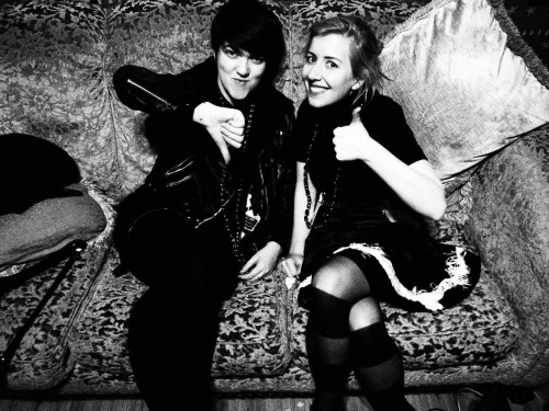 Romi of The xx and Kate Stelmanis of Austra on their recent tour together. Shot by the lovely Hannah Marshall. How to resist such cuteness? (Check out Hannah's site for more.)