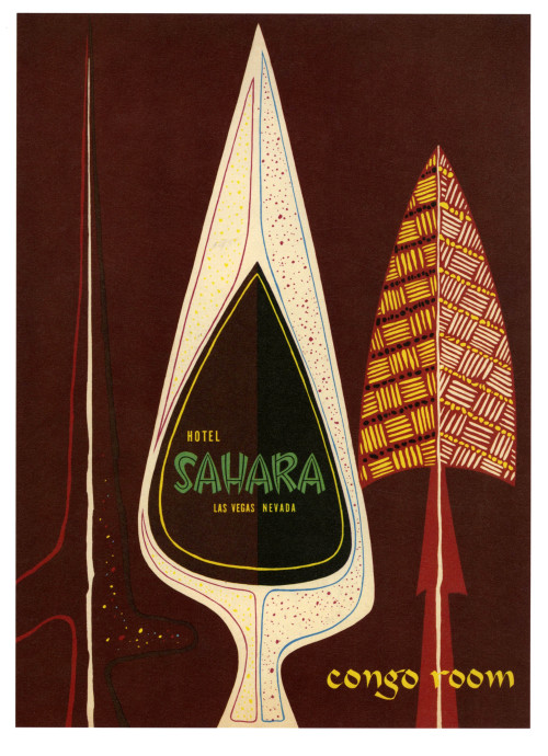 Sahara Congo Room - Las Vegas, Nevada USA - 1954 Copyright © Paul Malon on Flickr.  All rights reserved.