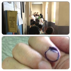 Duty bilang mamamayan, done! :) #election2013