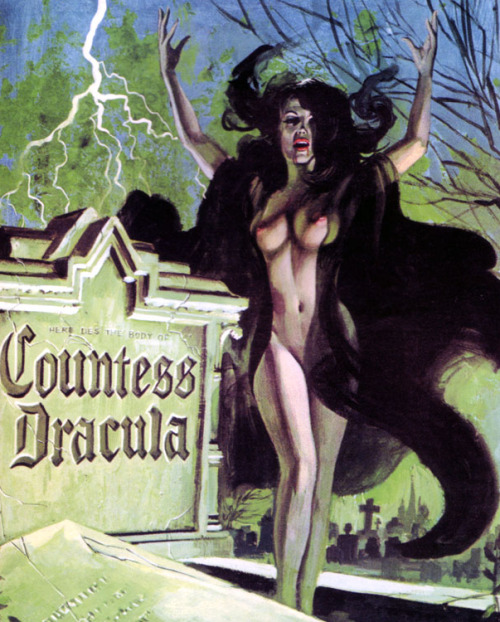 Movie poster for the horror Hammer film Countess Dracula (1971)