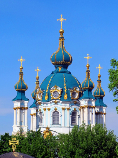 allthingseurope:  St Andrew's Church, Kiev (by Irisina)  My favorite church in Kyiv - so beautiful! Can't wait to see it in the skyline in a few weeks!!