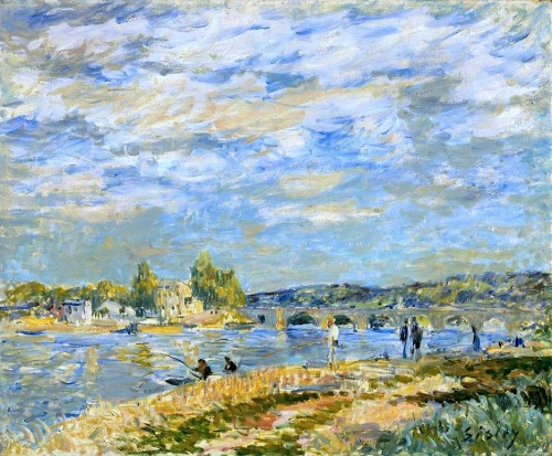 bofransson:  Alfred Sisley The Bridge at Sèvres 1877