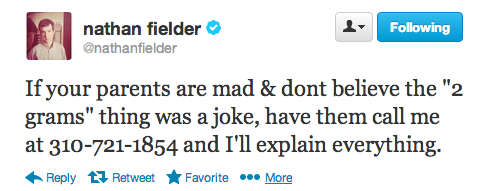 Seriously, call it. If you missed @NathanFielder's epic Twitter experiment last week, click here. Season Two of Nathan For You premieres next year!