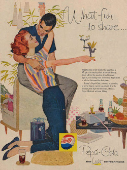 Pepsi ad´s during the Mad Men era, what a difference from now ones…!