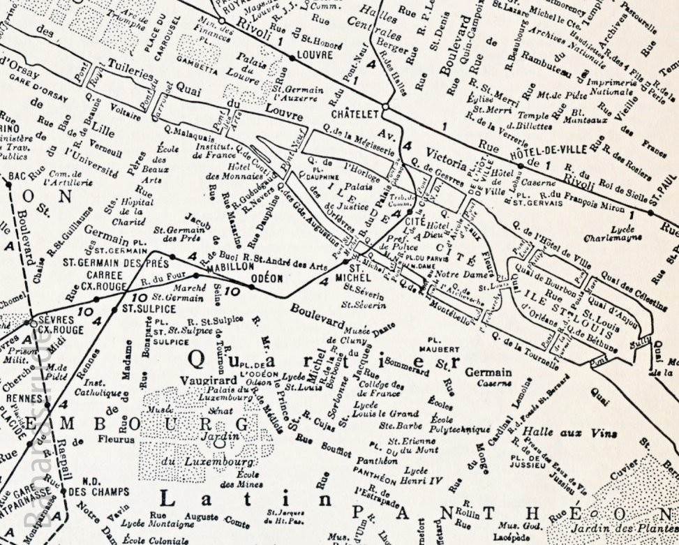 1937 Paris map. Uploaded by Bönan