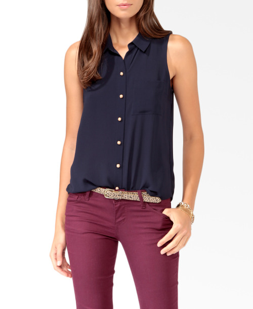 Essential Sleeveless Shirt Forever21.com - $17.80