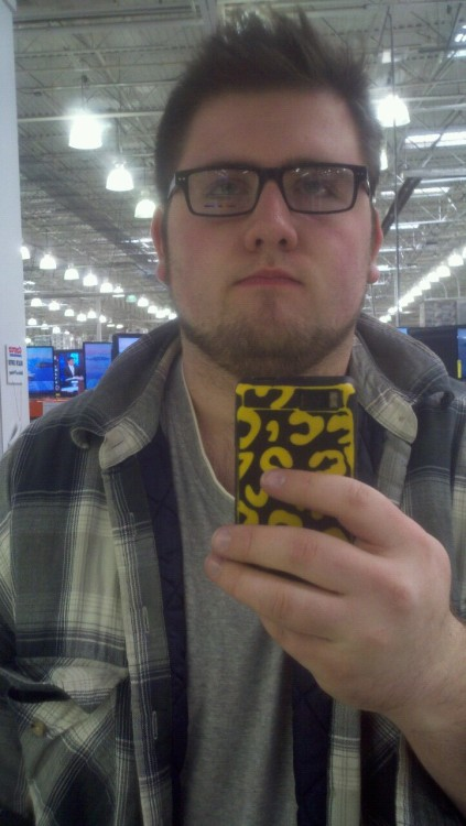 So I'm finally getting new prescription glasses so I can see again. Here's me in the display glasses for the frame I chose. Whatdya think?