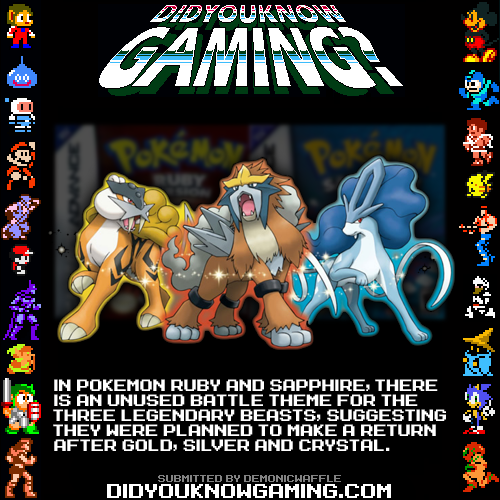 didyouknowgaming:  Pokemon Ruby and Sapphire.  http://www.youtube.com/watch?v=Y2C3IPl2vbs
