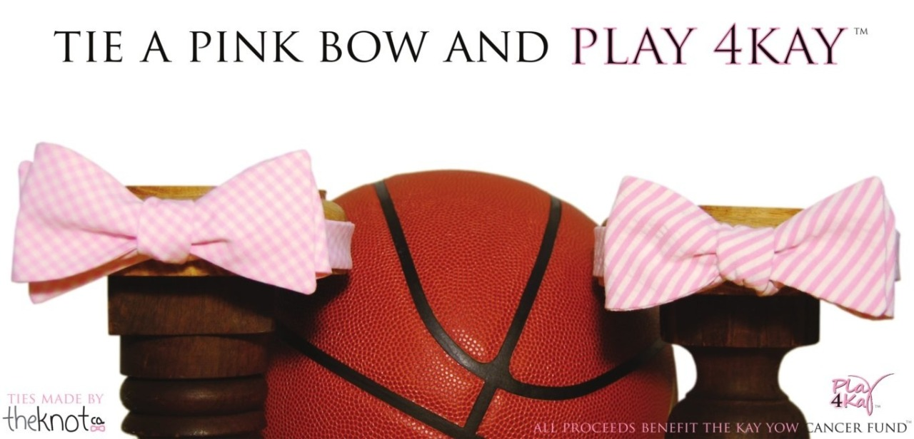 The pink bow ties are back! All proceeds go to supporting the Kay Yow Cancer Fund! You can find the seersucker tie here: http://tinyurl.com/acblqha