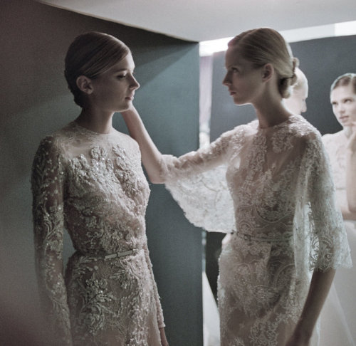 lesaab:   Backstage at Elie Saab Haute Couture Spring/Summer 2013  £