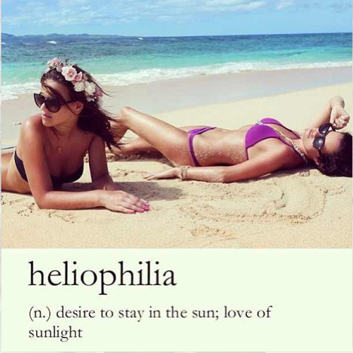 This Is So Me. I Love Being Under The Sun.