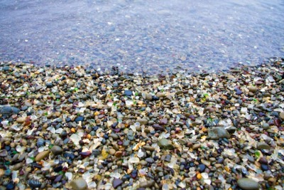 priyaghosephoto:  Photo of the Day: Glass Beach A wave laps at the sea glass and pebbles which adorn Glass Beach, a part of MacKerricher State Park near Fort Bragg, California. From: http://priya-ghose.artistwebsites.com/featured/glass-beach-priya-ghose.html