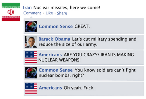 The Facebook News Feed History of 2012 [Click for more] It's been a bomb-ass year.
