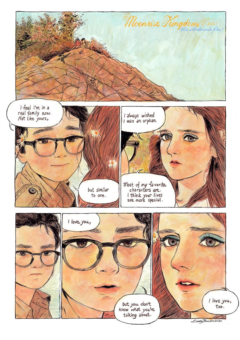 kenjistar:  Moonrise Kingdom, Wes Anderson film illustrator: Little Thunder