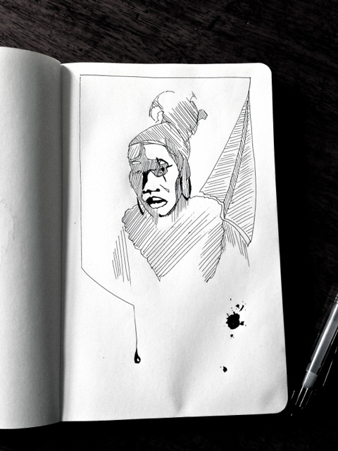 Sketching - the clown keeps hunting me