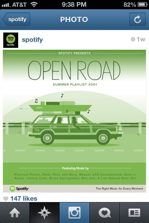 Client: Spotify Spring 2013 as a part of a client-pitch presentation with album cover playlists, announcement graphics & music charts