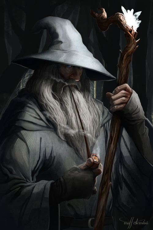 mattdemino:  Gandalf the Grey, first in my Tolkien series