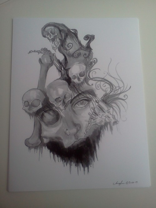 Faces of Death $15.00Available in the Shop!Finally! Art prints will now be a more common occurrence in the shop.Just as a small note, my shop Just Another Level will be going on hiatus soon! Get your orders in before Monday, May 20th. My home shop Devil Eye Artwork will still be taking orders! Need some time to prep because I will be selling my artwork at a local con. Will give you all more updates on that later!In other news, Devil Eye Artwork is now shipping to Germany and France.