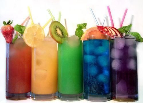 I love these colourful, fruity drinks!