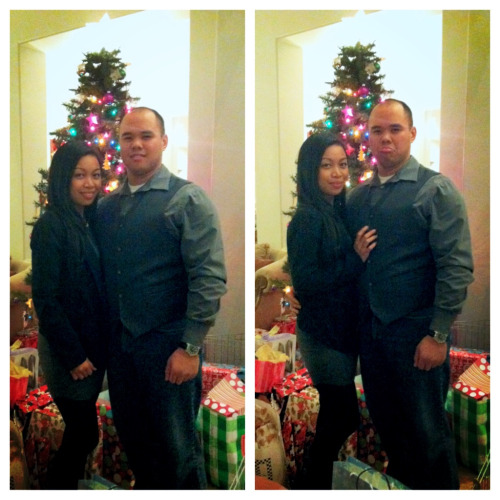 Our first Christmas as a couple ❤  He loves taking couple pics… Not! Lol