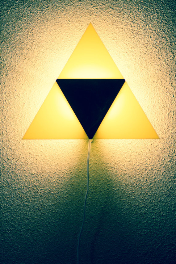 jtem:  Legend of Zelda Triforce lamp.