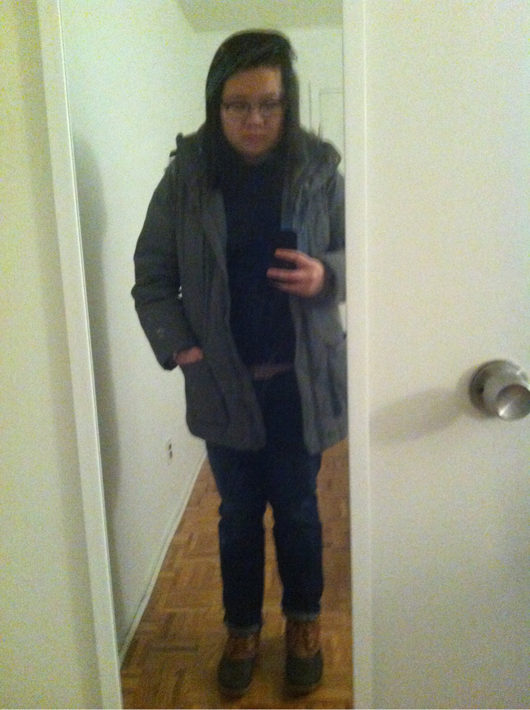 Cold, rainy day in NYC means layering and boots. Off to dinner and Lord Huron.
