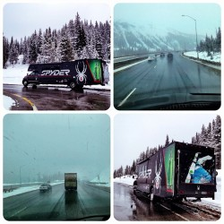 Casual May 20th #snow storm on our way to meet up with @steepskiing in Aspen. We may be #skiing pow on the Centennial Tour this week! #colorado #13erskiers (at Vail Summit Rest Area, I-70, Elevation 10,630 ft)